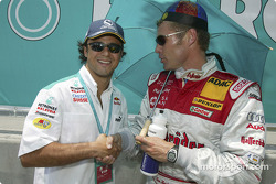 Felipe Massa and Tom Kristensen on the starting grid