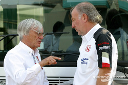 Bernie Ecclestone and David Richards