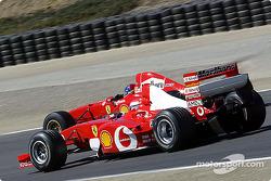 The 2003 Ferrari slips inside a 1997 model