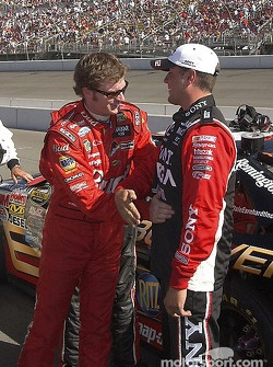 Dale Earnhardt Jr. talks a little shop before the race