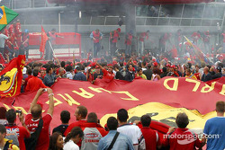 The tifosi celebrate