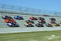 Three-wide at Talladega