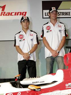 Honda Racing press conference: Jenson Button and Takuma Sato