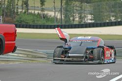 #2 Howard - Boss Motorsports Pontiac Crawford behind tow truck