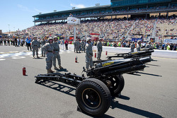 Large guns for pre-race ceremonies