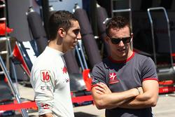 Sebastien Buemi, Scuderia Toro Rosso with Christian Klien, test driver, Hispania Racing F1 Team