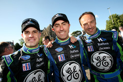 Marino Franchitti, David Brabham and Marco Werner