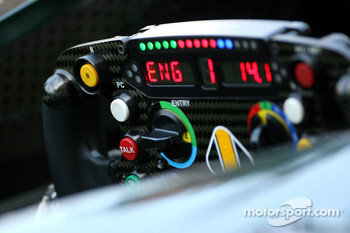 Steering wheels of Lotus F1 Team