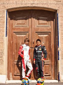 Esteban Gutierrez and Rio Haryanto, winners at round 2 of the GP3 series