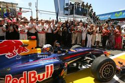 Race winner Sebastian Vettel, Red Bull Racing