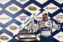 Victory lane: race winner Jimmie Johnson, Hendrick Motorsports Chevrolet celebrates