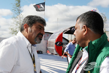 Vicky Chandhok, father of Karun Chandhok, Tony Fernandes, Lotus F1 Team, Team Principal