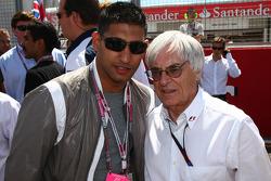 Amir Khan with Bernie Ecclestone