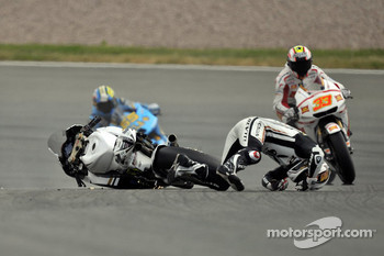 Randy De Puniet, LCR Honda MotoGP crashes