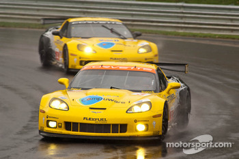 #3 Corvette Racing Chevrolet Corvette ZR1: Jan Magnussen, Johnny O'Connell, #4 Corvette Racing Chevrolet Corvette ZR1: Olivier Beretta, Oliver Gavin