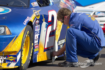 Penske Racing Dodge crew member at work