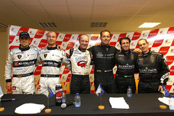Pole winners Jos Menten and Xavier Maassen, second place Nicky Pastorelli and Dominik Schwager, third place Ricardo Zonta and Frank Kechele