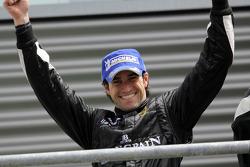 Podium: race winner Ricardo Zonta