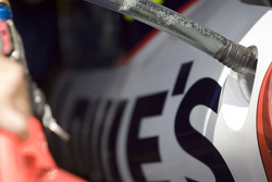 Fuel in the car of Jimmie Johnson, Hendrick Motorsports Chevrolet