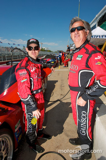 Pole sitter Jon Fogarty with team owner Bob Stallings