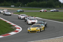 #13 Phoenix Racing / Carsport Corvette Z06: Marc Hennerici, Alexandros Margaritis leads the field