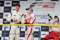 Podium: race winner Dean Stoneman, second place Vasilauskas, third place Sergey Afanasiev