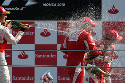 Podium: race winner Fernando Alonso, Scuderia Ferrari, second place Jenson Button, McLaren Mercedes, third place Felipe Massa, Scuderia Ferrari
