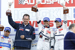 LMP1 podium: class and overall winners Nicolas Minassian and Anthony Davidson