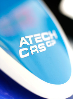 Atech CRS logo on the car of Oliver Oakes