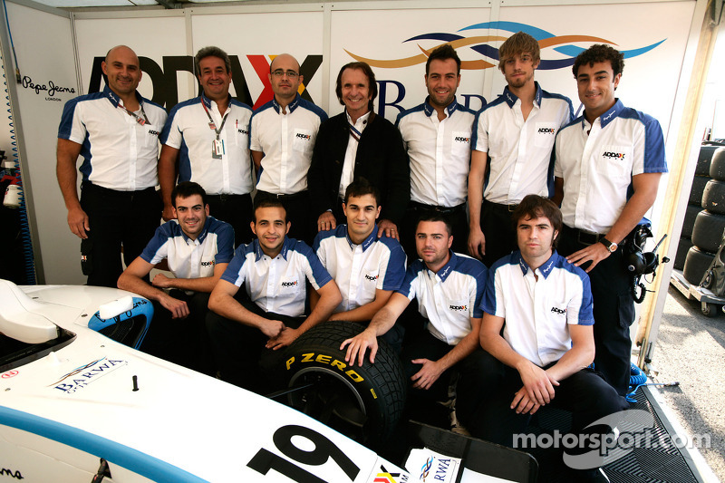 Emerson Fittipaldi and the Addax team