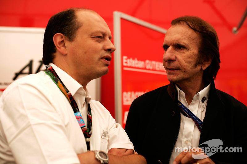 Frederic Vasseur and Emerson Fittipaldi