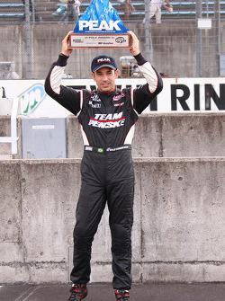 Pole winner Helio Castroneves, Team Penske