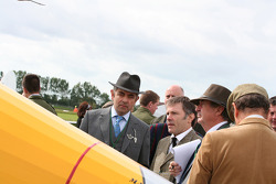 Nick Mason and Rowan Atkinson judges the planes