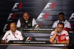 Peter Sauber, BMW Sauber F1 Team, Team Principal, Colin Kolles, Hispania Racing Team, Team Principal HRT, Stefano Domenicali Ferrari General Director, Tony Fernandes, Lotus F1 Team, Team Principal