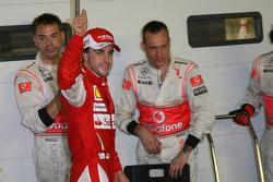 Pole winner Fernando Alonso, Scuderia Ferrari