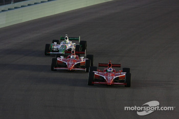Dario Franchitti, Target Chip Ganassi Racing, Scott Dixon, Target Chip Ganassi Racing, Tony Kanaan, Andretti Autosport