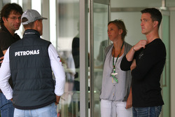 Michael Schumacher, Mercedes GP and Ralf Schumacher