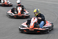 GT1 Karting in Navarra: Johnny Herbert ahead of Peter Kox