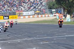 Andrea Dovizioso, Repsol Honda Team takes third in front of Marco Simoncelli, San Carlo Honda Gresini