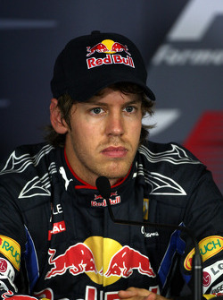 Press conference: second place Sebastian Vettel, Red Bull Racing