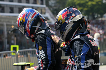 Race winner Sebastian Vettel, Red Bull Racing, second place Mark Webber, Red Bull Racing