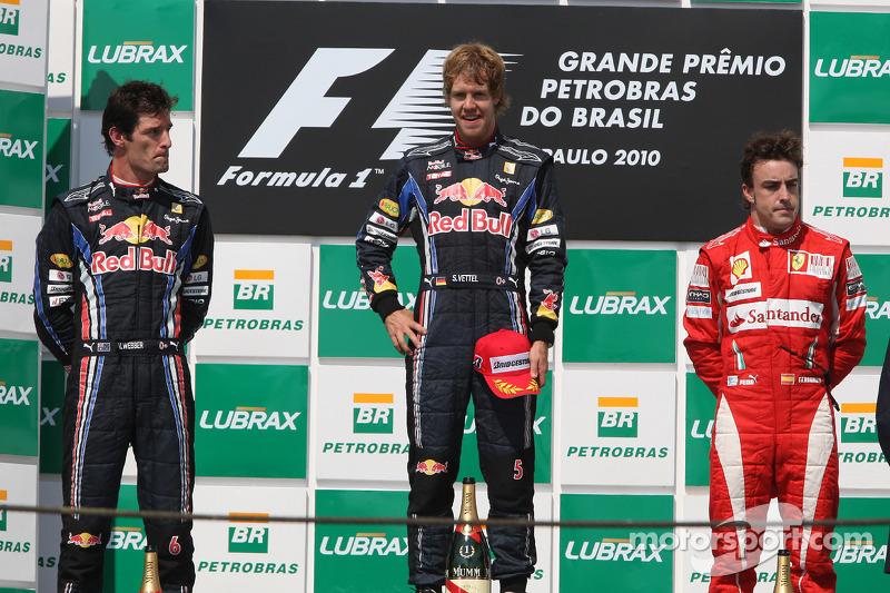 2010: Sebastian Vettel gana en Interlagos y  el título de campeón se disputa en la carrera final en Abu Dhabi