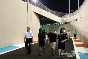 Sebastian Vettel, Red Bull Racing, walks the circuit