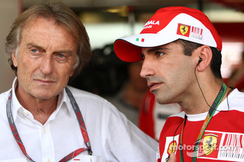 Luca di Montezemolo, Scuderia Ferrari, FIAT Chairman and President of Ferrari, Marc Gene, Test Driver, Scuderia Ferrari