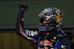 Race winner and 2010 Formula One World Champion Sebastian Vettel, Red Bull Racing, celebrates