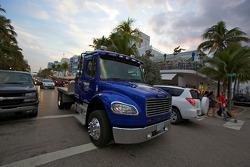 Hendrick Motorsports truck on Ocean Drive