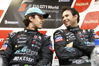 Pole winners Alexandre Negrao and Enrique Bernoldi