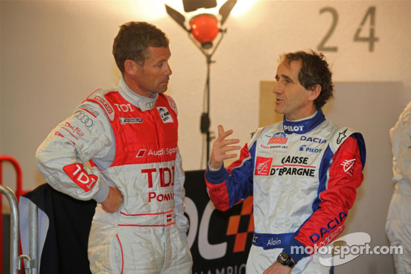 Tom Kristensen and Alain Prost