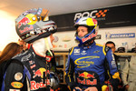Sebastian Vettel and Travis Pastrana