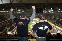 Fans of Sebastian Vettel